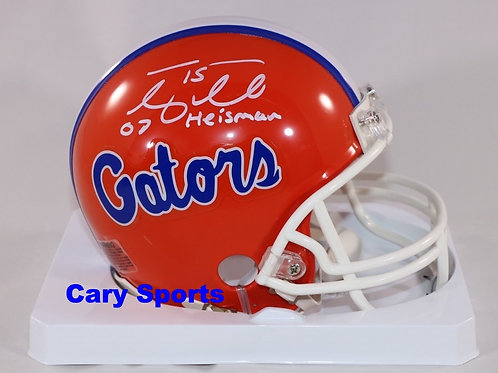 "Tim Tebow Signed Florida Gators Mini Helmet - ""07 Heisman"""