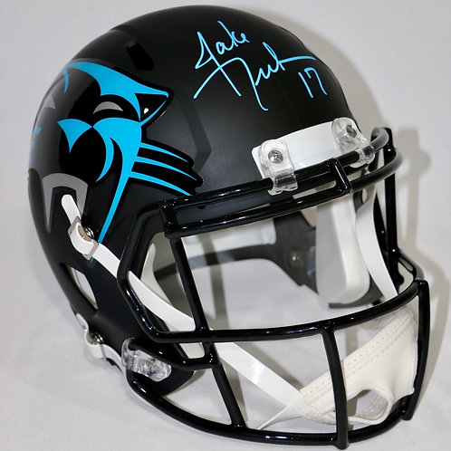 Jake Delhomme Autographed Carolina Panthers Full Size AMP Helmet