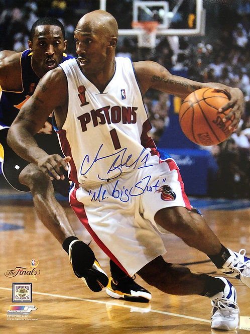 16x20 Chauncey Billups Autographed Photo Mr. Big Shot