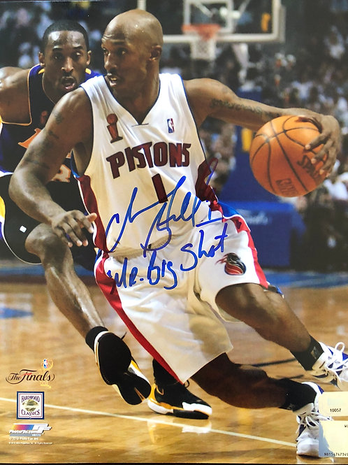 8x10 Chauncey Billups Autographed Photo Mr. Big Shot
