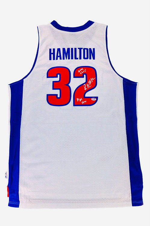 Rip Hamilton Autographed Mitchell & Ness Jersey w/ Inscriptions