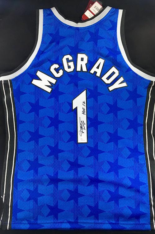 Tracy McGrady Autographed M&N Orlando Magic Swingman Jersey w HOF Inscription