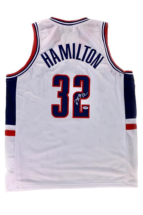 Rip Hamilton Autographed UConn Custom Jersey