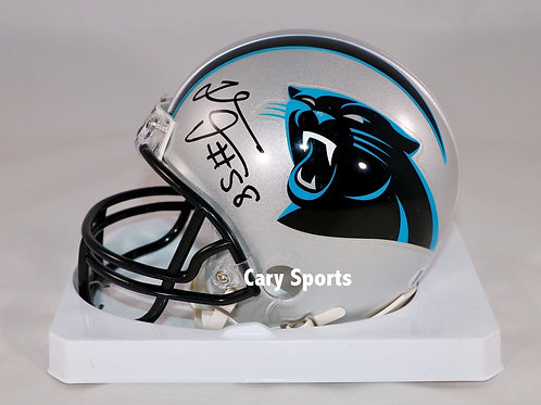 Thomas Davis Autographed Carolina Panthers RegularMini Helmet