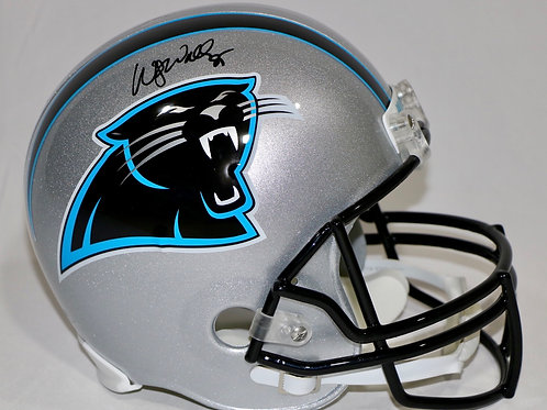 Wesley Walls Autographed Carolina Panthers Throwback Full Size Helmet