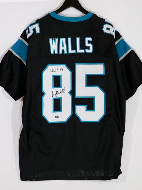Wesley Walls Autographed Carolina Panthers Custom Jersey w/ HOH 19 Inscription