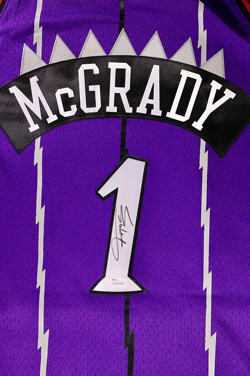 Tracy McGrady Autographed M&N Toronto Raptors Swingman Jersey
