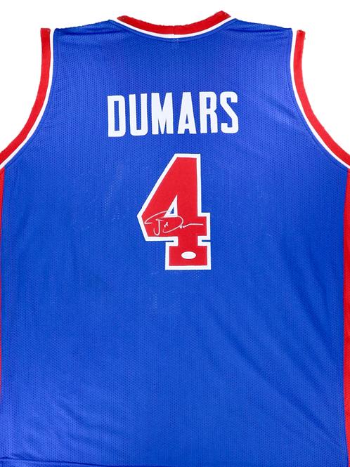 Joe Dumars Autographed Custom Jersey (Blue)