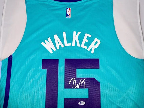 Kemba Walker Autographed Charlotte Hornets Adidas Jersey
