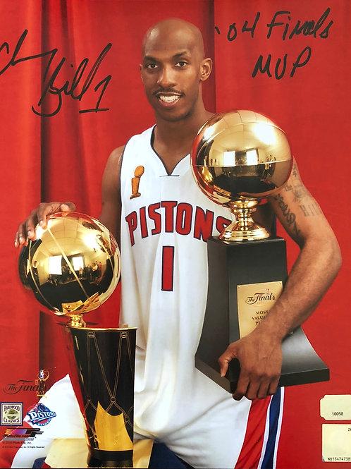 8x10 Chauncey Billups Autographed Photo 04 Finals MVP