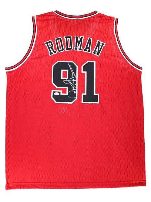Dennis Rodman Autographed Custom Jersey (Red)