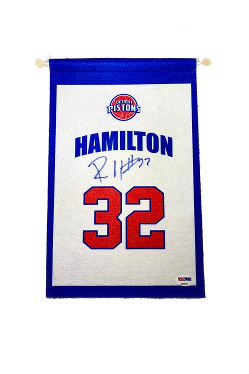 Rip Hamilton Autographed Mini Banner