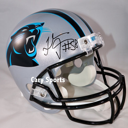 Thomas Davis Autographed Carolina Panthers Full Size Helmet