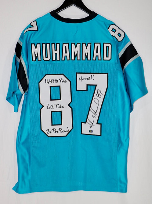 Muhsin Muhammad Autographed Carolina Panthers Jersey w/ 4 Inscriptions