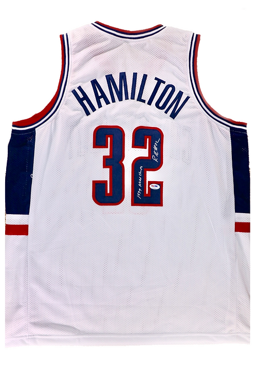 Rip Hamilton Autographed UConn Custom Jersey w/ Inscription