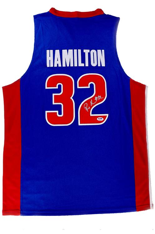 Rip Hamilton Autographed Custom Jersey