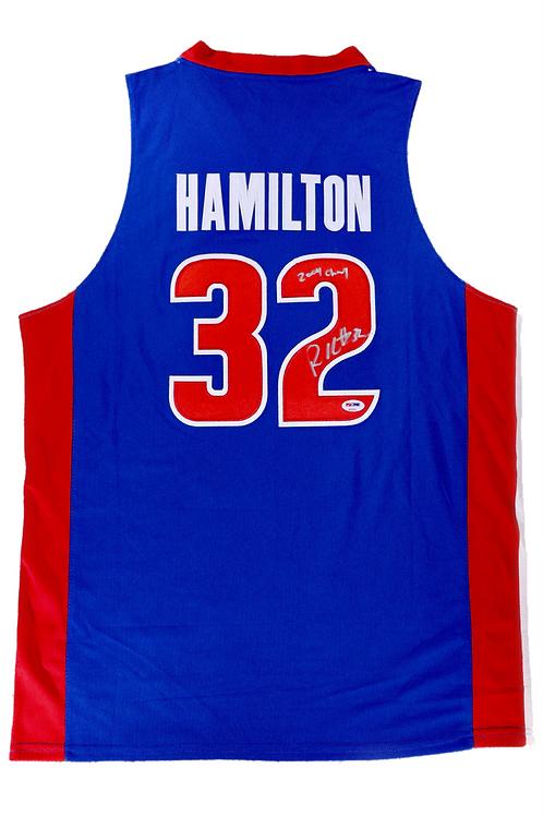 Rip Hamilton Autographed Custom Jersey w/ Inscription