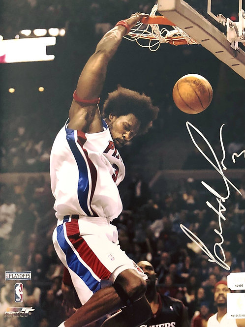 8x10 Ben Wallace Autographed Photo