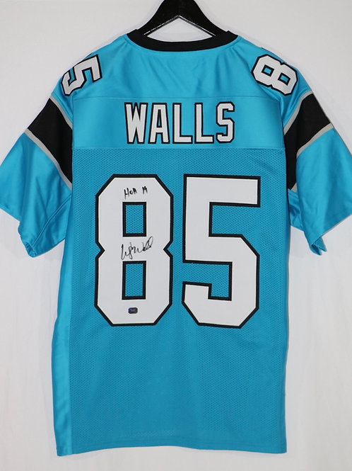 Wesley Walls Autographed Carolina Panthers Custom Jersey w/ HOH 19 Inscr
