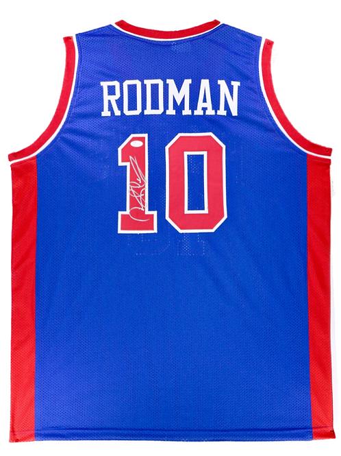 Dennis Rodman Autographed Custom Jersey (Blue)