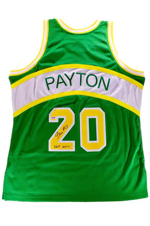Gary Payton Autographed Mitchell & Ness Seattle Supersonics Jersey 1 w/ Insc
