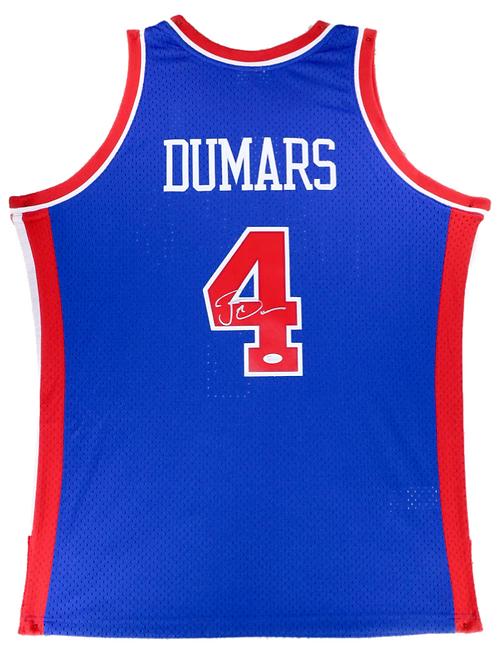 Joe Dumars Autographed Mitchell & Ness Pistons Jersey (Blue)