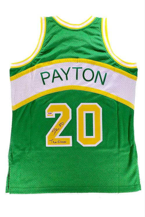 Gary Payton Autographed Mitchell & Ness Seattle Supersonics Jersey 1 w/ Insc.
