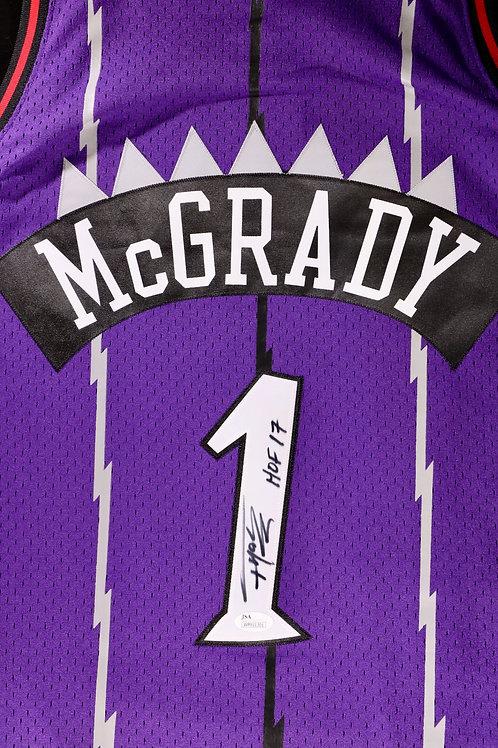 Tracy McGrady Autographed M&N Toronto Raptors Swingman Jersey w HOF Inscription