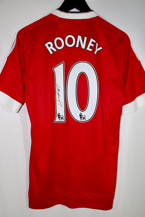 Wayne Rooney Autographed 15-16 Season Manchester United Jersey