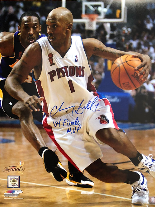 16x20 Chauncey Billups Autographed Photo 04 Finals MVP