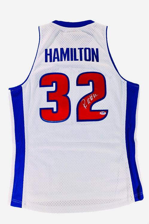 Rip Hamilton Autographed Mitchell & Ness Swingman Jersey
