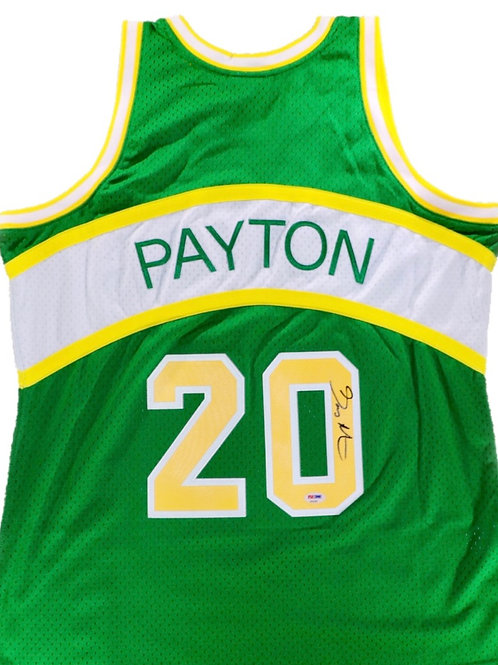Gary Payton Autographed Mitchell & Ness Seattle Supersonics Jersey 1