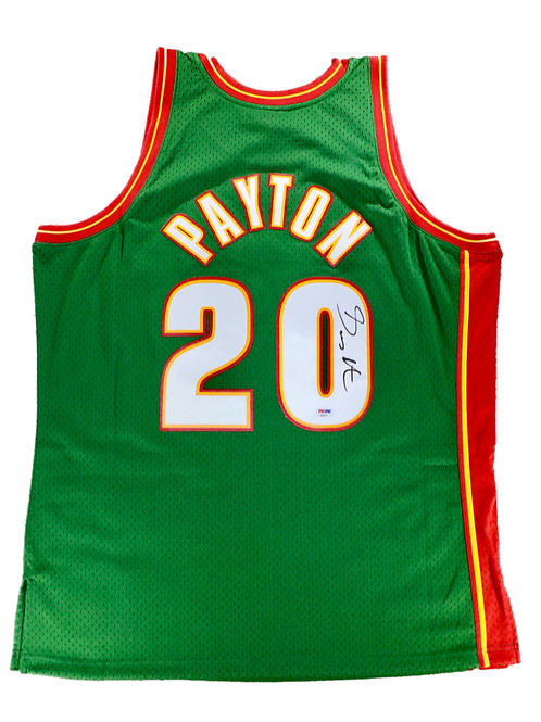 Gary Payton Autographed Mitchell & Ness Seattle Supersonics Jersey 2
