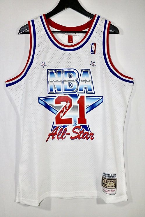 Dominique Wilkins Autographed 1991 All Star Game M&N Swingman Jersey