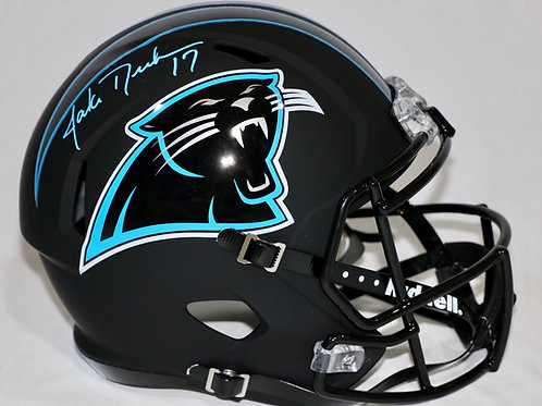 Jake Delhomme Autographed Carolina Panthers Full Size Black Helmet