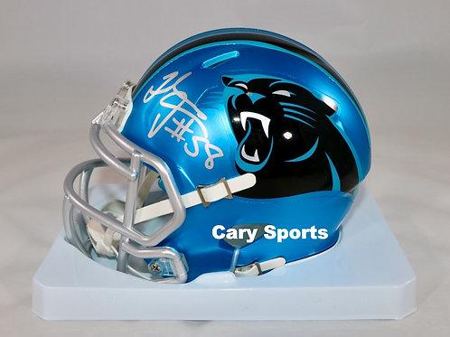 Thomas Davis Autographed Carolina Panthers Blaze Mini Helmet