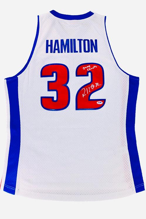 Rip Hamilton Autographed Mitchell & Ness Jersey w/ Inscription