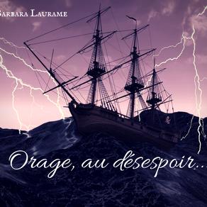 DÉFI D'ÉCRITURE -  Orage, au désespoir...
