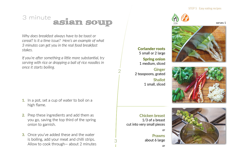 Unique recipe layout