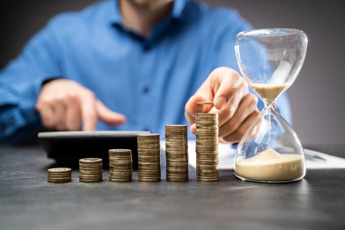 increasing money coin stack concept