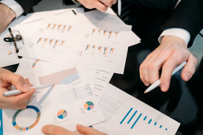 business paperwork data analysis office worker