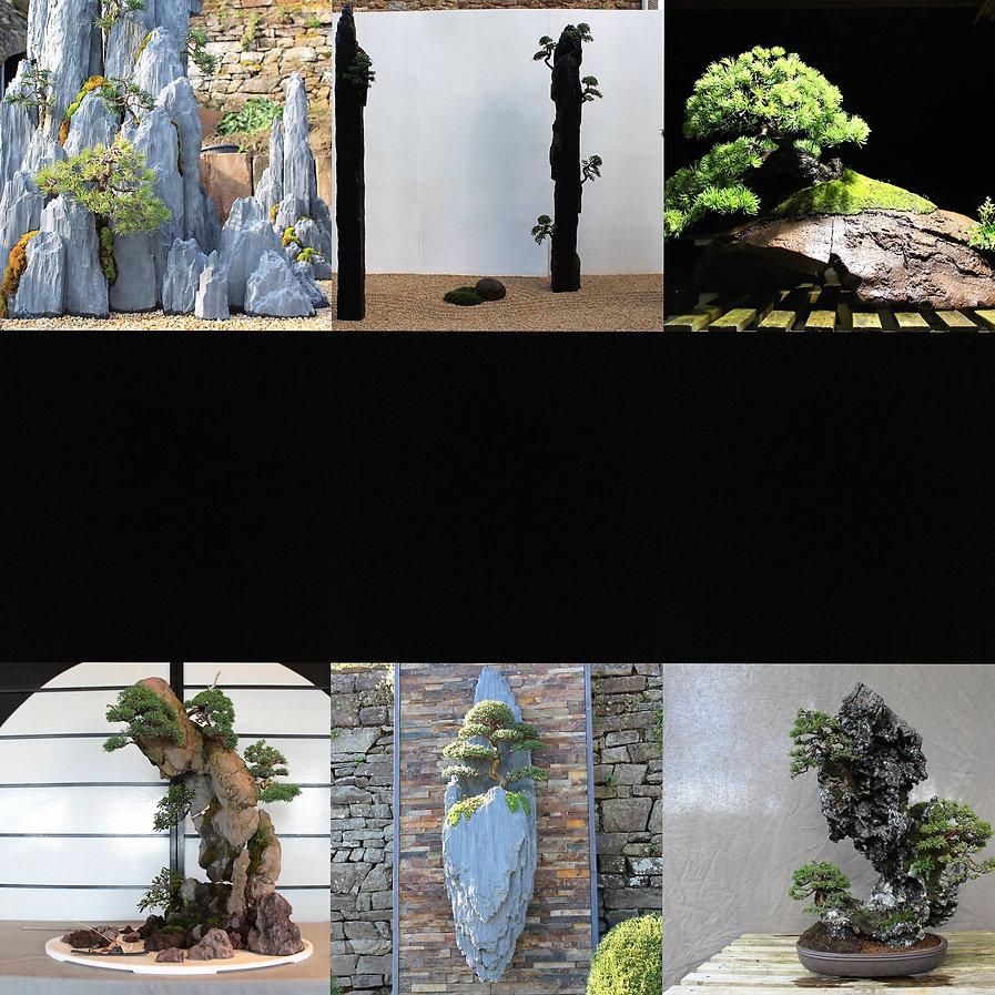 """galerie landscape art, """"bonsai-rocks"""" sculptée et désignée par Arnaud Desbois"""