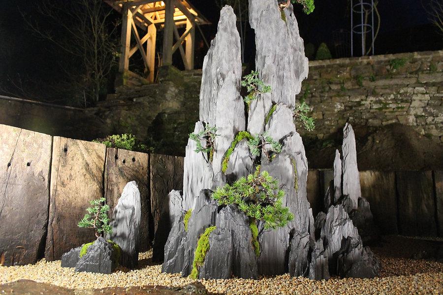 jardin contemporain, jardin zen, penjing créé par bonsai-rocks