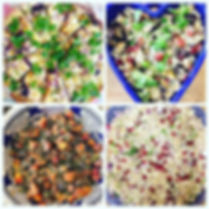 Sample dishes from our yoga days and retreats