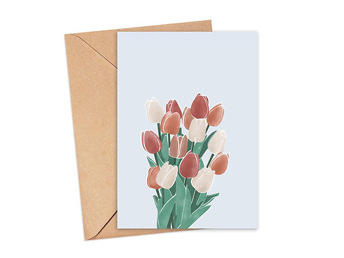 Carte tulipes