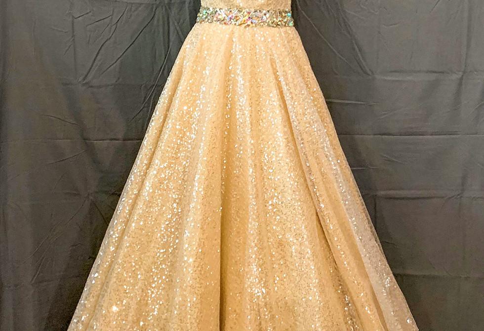 Cream beaded gown