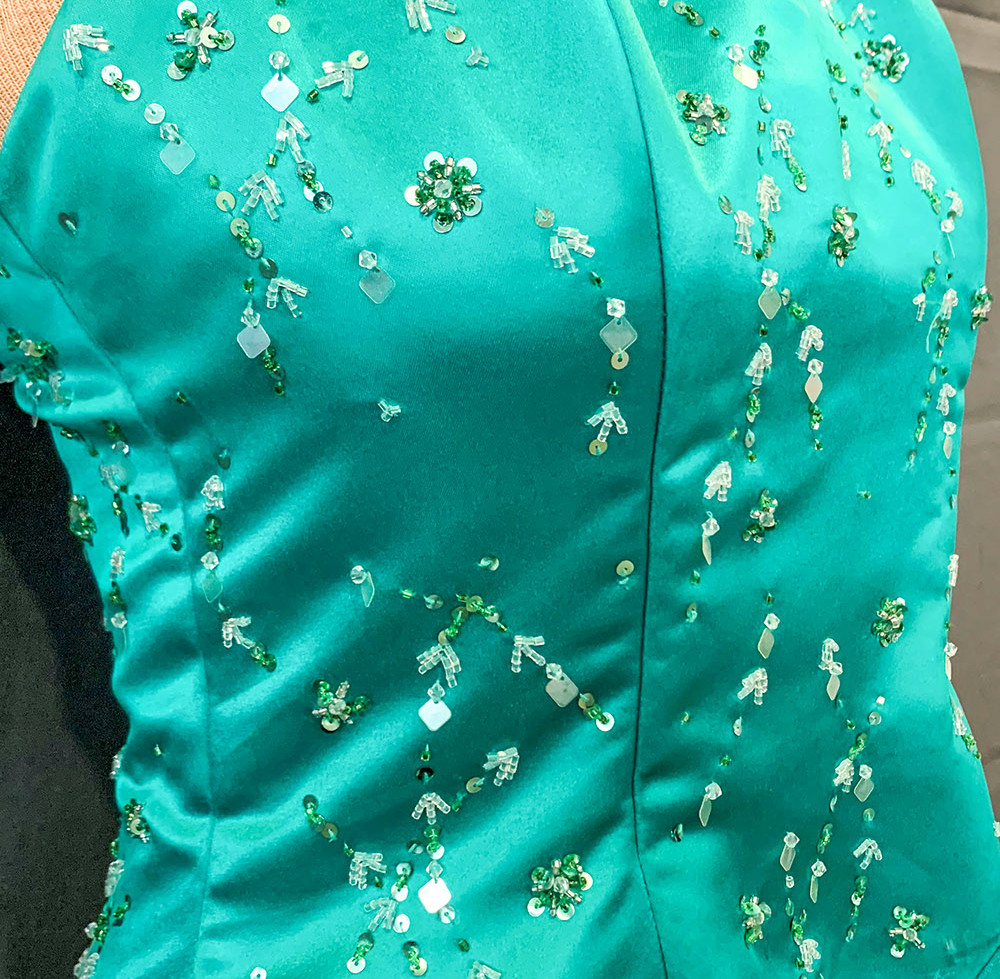 Teal formal gown