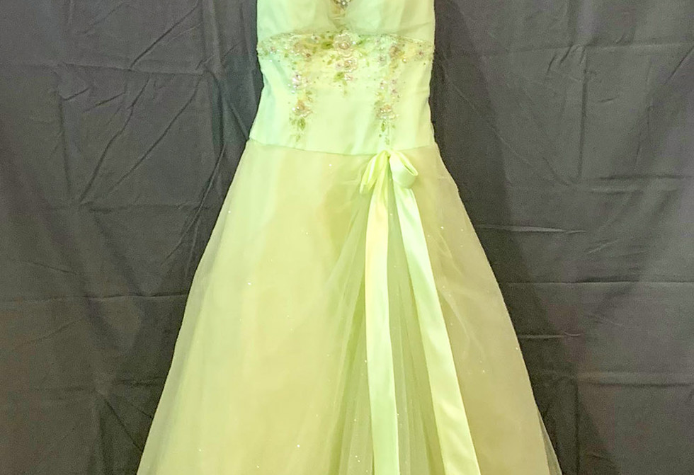 Green cocktail gown