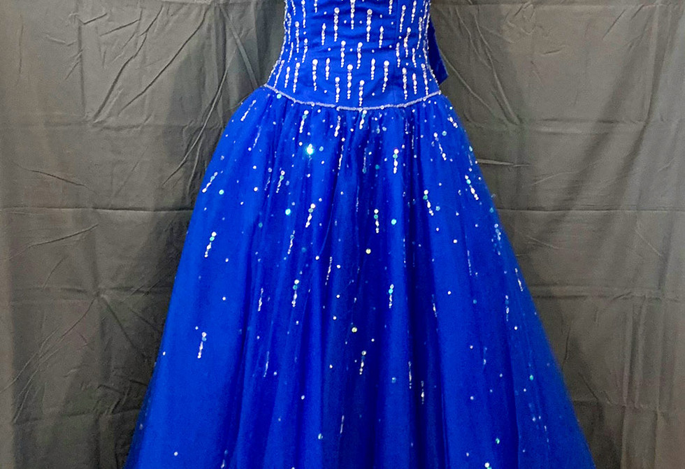 Royal blue formal gown