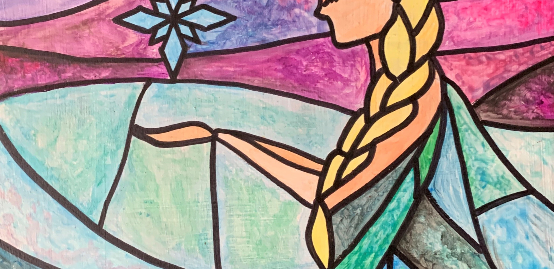 Stained Glass Elsa
